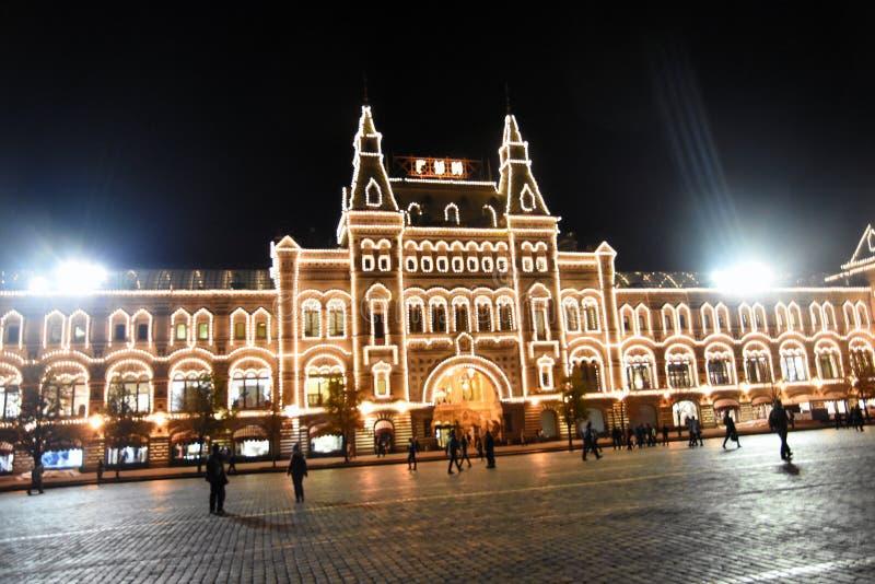 COLLEZ, centre commercial et bâtiment historique sur la place rouge à Moscou image stock