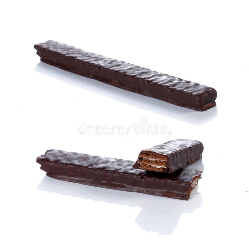 Collez le chocolat de disque photo libre de droits