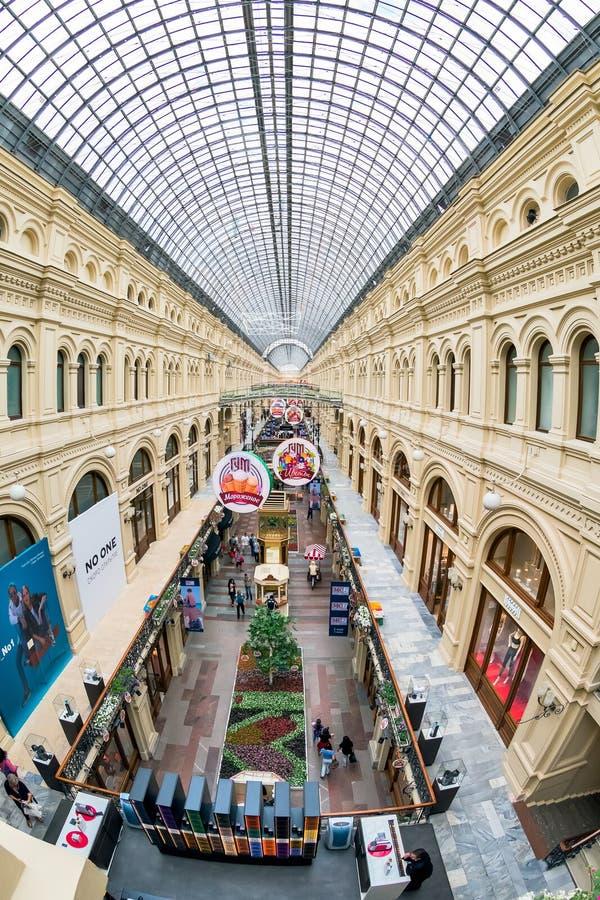 COLLEZ, le hall marchand du magasin principal à Moscou images libres de droits