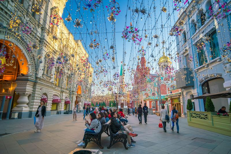 COLLEZ le magasin à Moscou près de la place rouge photographie stock libre de droits
