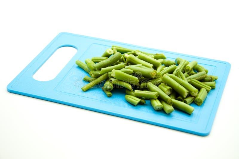 Collez les haricots dans les parties photo stock