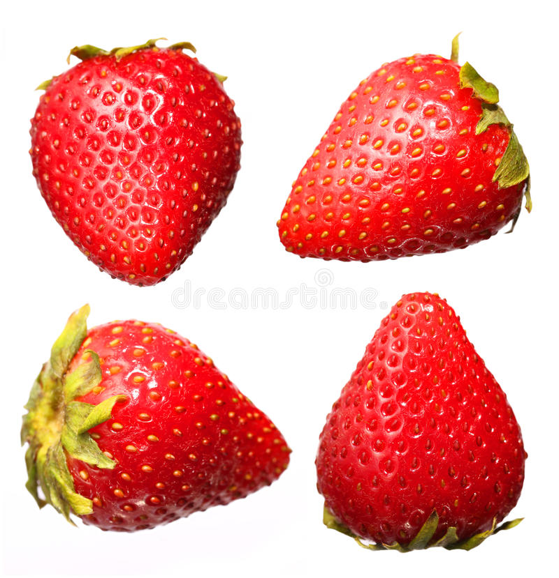 Collezioni della frutta della fragola, isolate fotografia stock libera da diritti