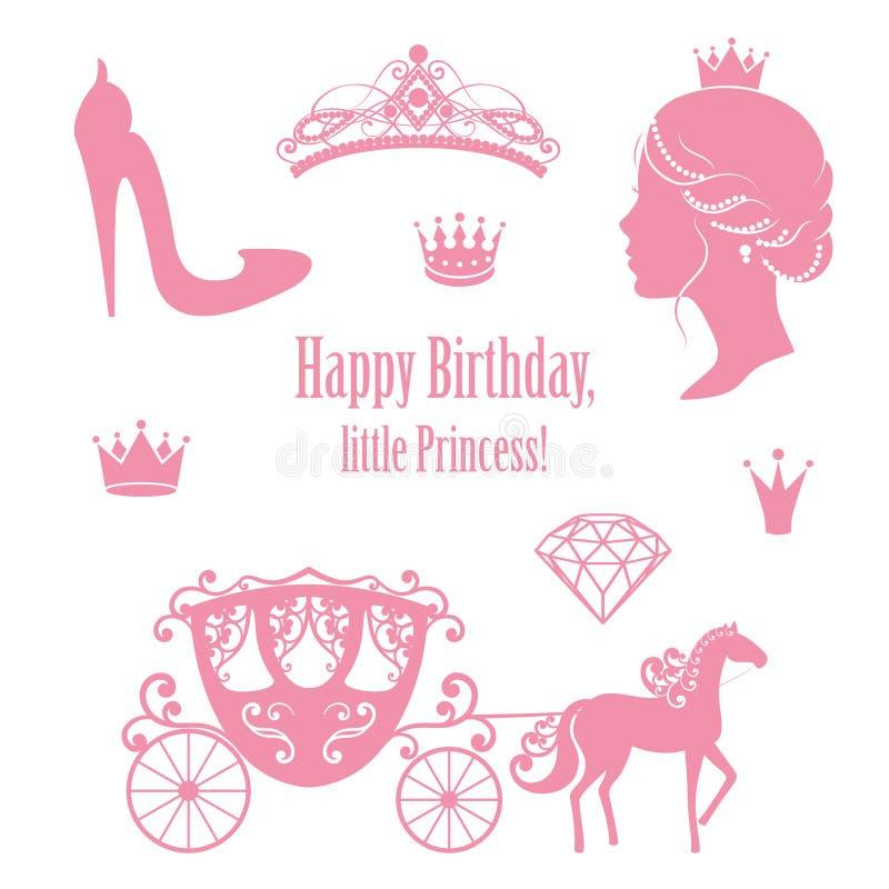Collezioni stabilite di principessa Cinderella royalty illustrazione gratis