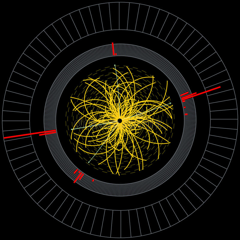Collider de Hadron de boson de Higgs grand illustration libre de droits