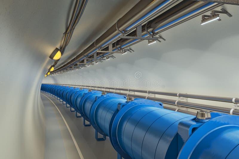 Collider do Hadron ilustração stock