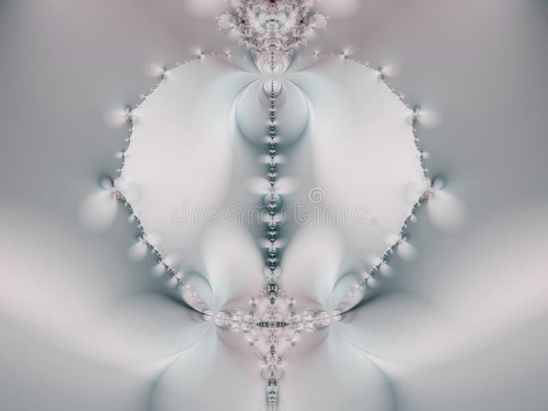 Collier blanc bizarre de fractale illustration de vecteur