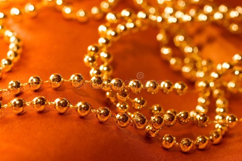 Collier d'or photographie stock