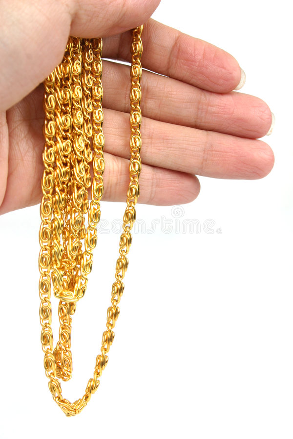 Collier d'or images stock