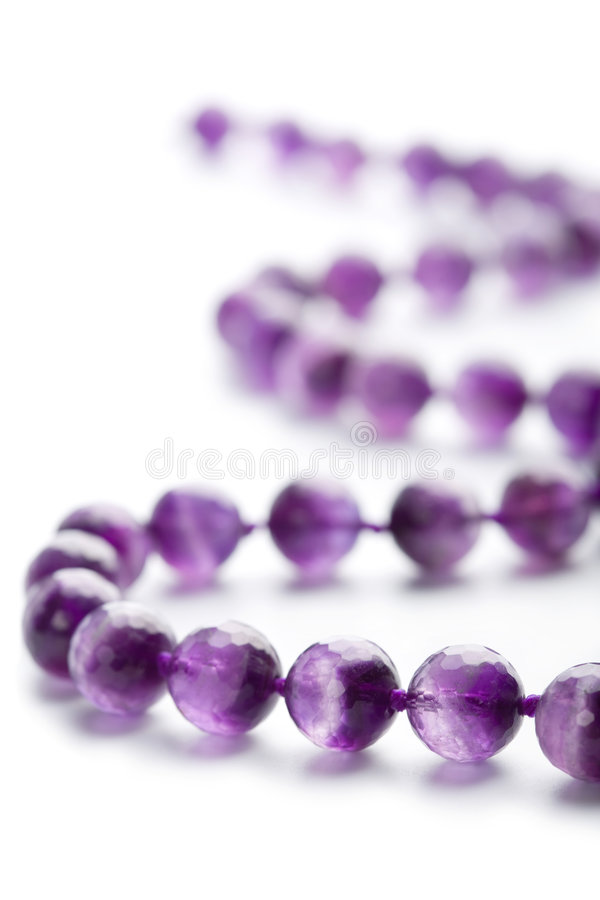collier d'isolement amethyst photographie stock