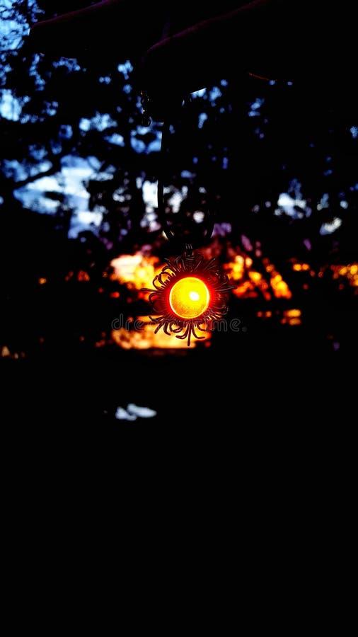 Collier de coucher du soleil image libre de droits