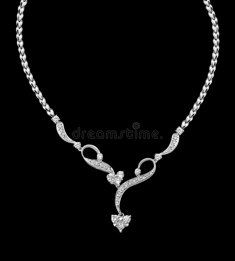 Collier de diamant photo stock