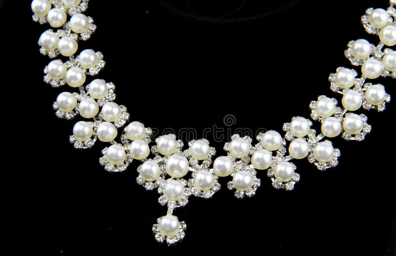 Collier de perle photos stock