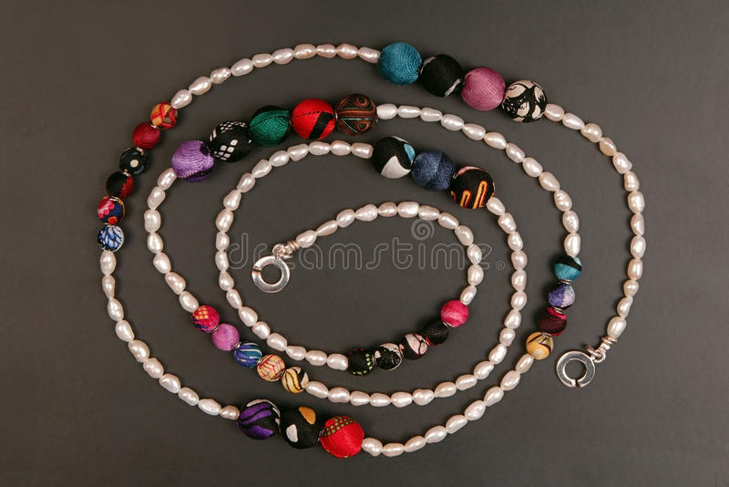 Collier de perle photo libre de droits