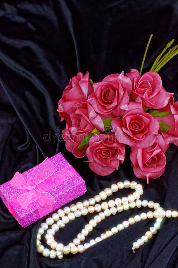 Collier de perle Thème d'Aniversary image stock