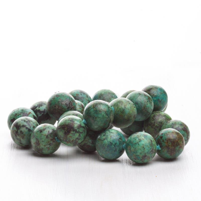 collier de pierre semi pr cieuse de vert image stock image 41389883. Black Bedroom Furniture Sets. Home Design Ideas