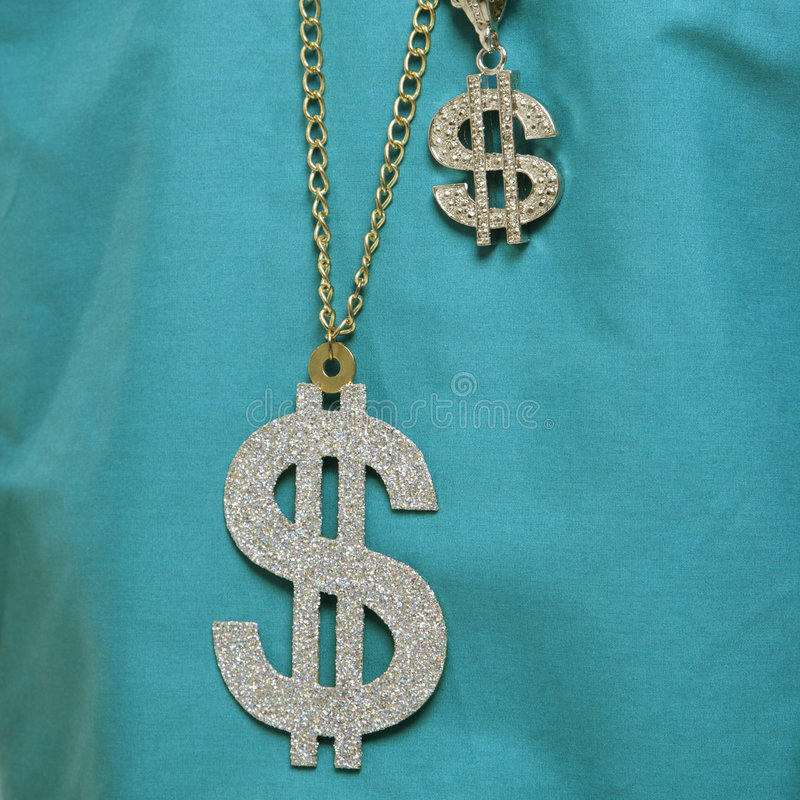 Collier de signe du dollar. photos libres de droits