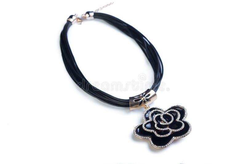 collier Fleur noire images stock