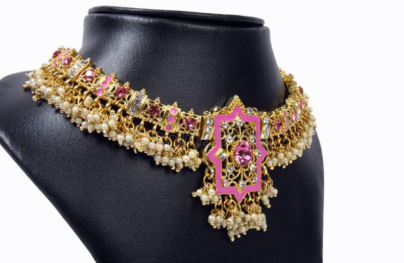 Collier indien d'or photo libre de droits