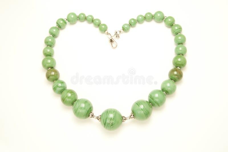 Collier vert en forme de coeur photos libres de droits