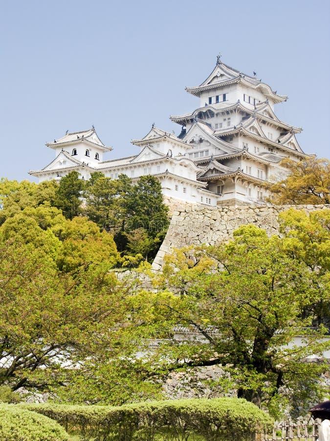 Collina del castello di Himeji fotografie stock libere da diritti