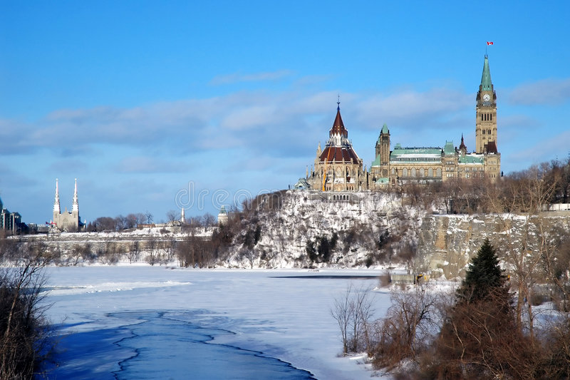 Collina del Parlamento, Ottawa fotografia stock