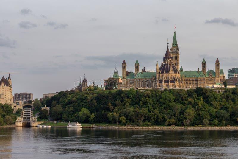 Collina del Parlamento in Ottawa Canada fotografia stock