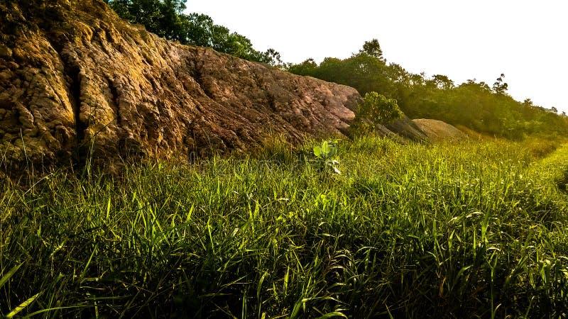 Collina della bauxite situata sull'isola di Batam fotografia stock