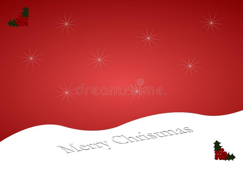 Collina della neve di Buon Natale illustrazione vettoriale