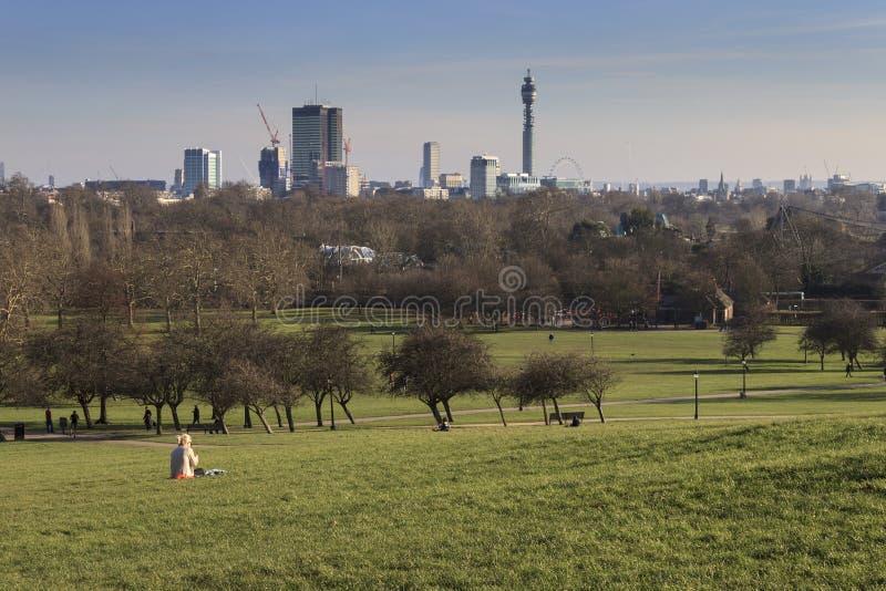 Collina della primaverina, Londra immagini stock libere da diritti