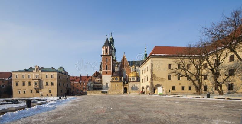 Collina della st Stanislaw Polonia Wawel della cattedrale di Cracovia immagini stock libere da diritti