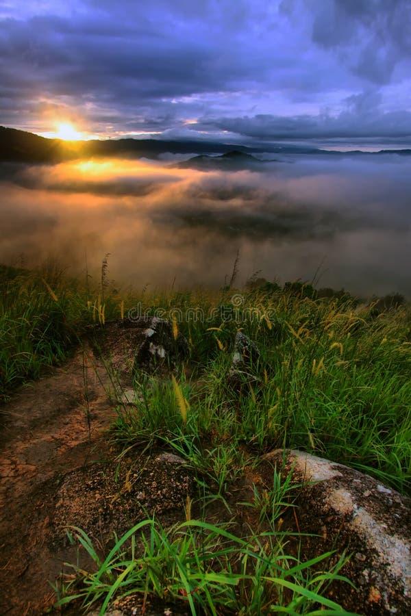 Collina di Broga - alba fotografie stock libere da diritti