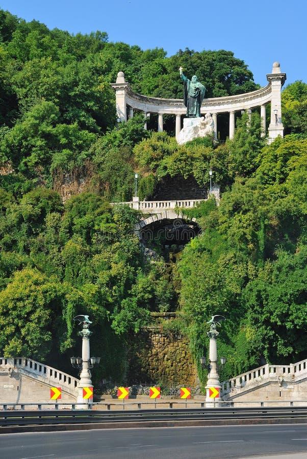 Collina di Gellert a Budapest fotografia stock libera da diritti