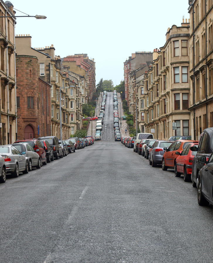 Collina di Glasgow fotografia stock