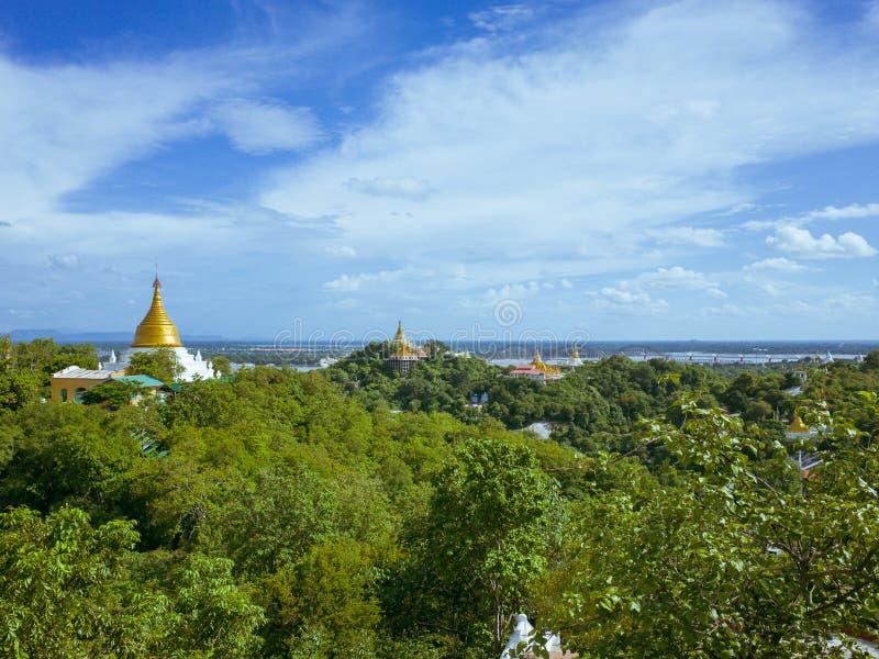 Collina di Mandalay fotografie stock