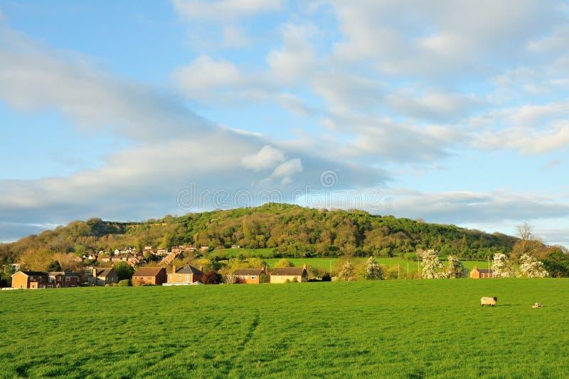 Collina di Robinswood in Gloucestershire nel tempo di primavera immagine stock