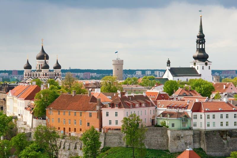 Collina di Toompea. Tallinn, Estonia fotografia stock libera da diritti