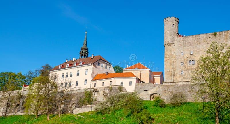 Collina di Toompea Tallinn, Estonia immagini stock libere da diritti