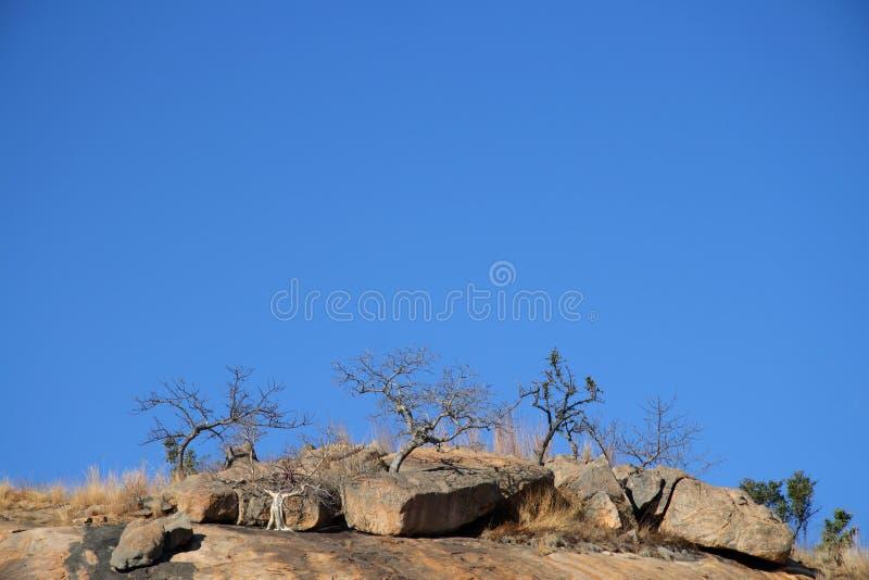 Collina e cielo blu fotografie stock libere da diritti