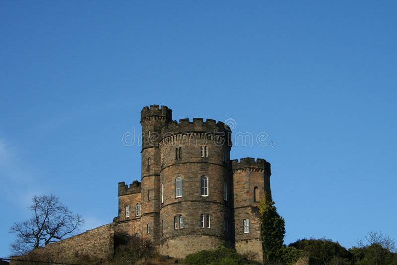 Collina Edinburgh di Calton fotografie stock