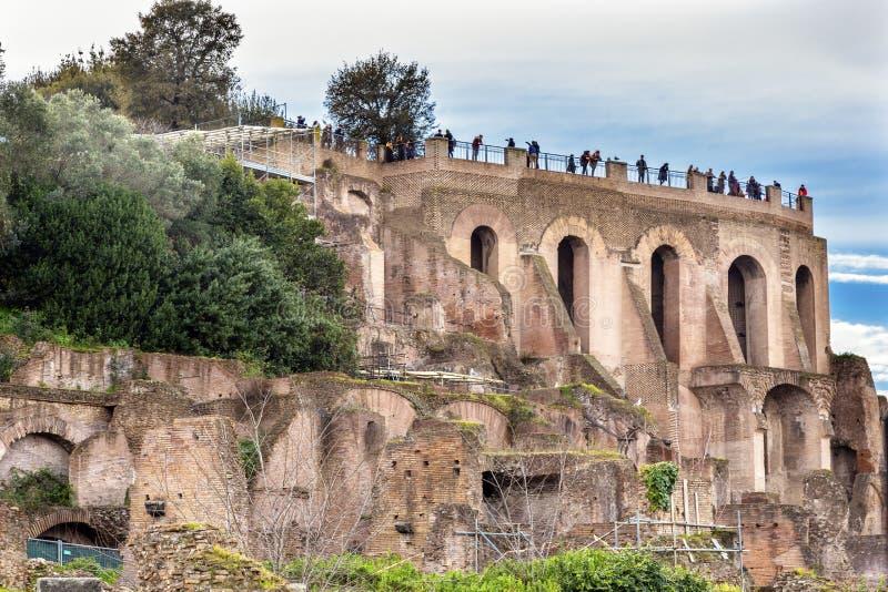 Collina Roman Forum Rome Italy di Palantine immagini stock libere da diritti