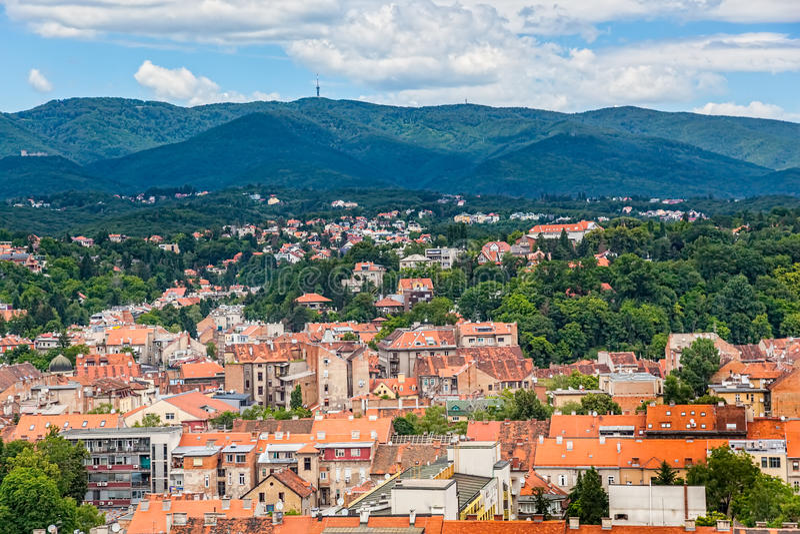 Collina Sljeme di Zagabria immagine stock