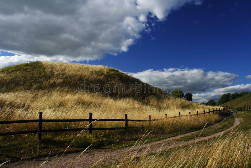 Collina a Upsala, Svezia fotografia stock