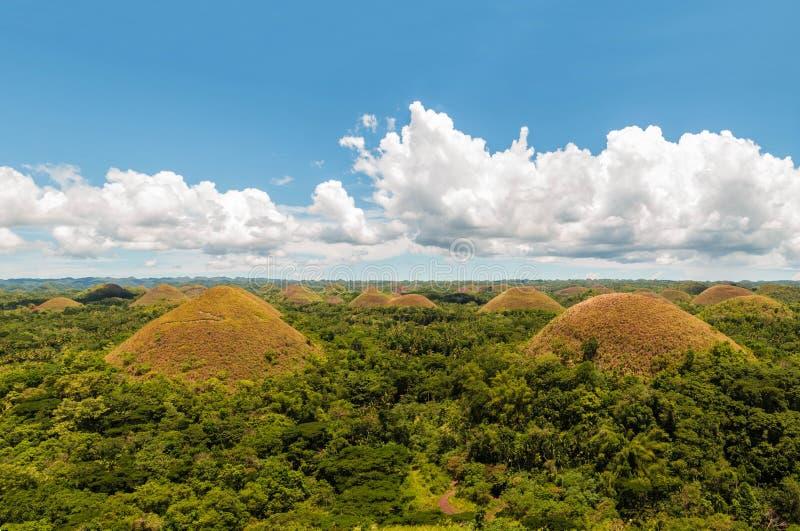 Colline in Bohol, le Filippine del cioccolato L'attrazione turistica più famosa di Bohol fotografie stock