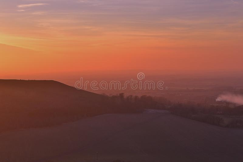 Colline de Coombe photos stock