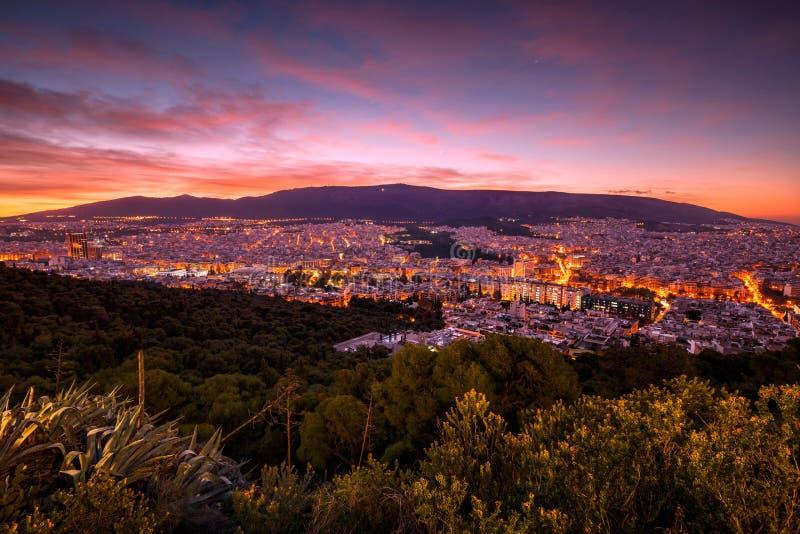 Colline de Lycabettus à Athènes images stock