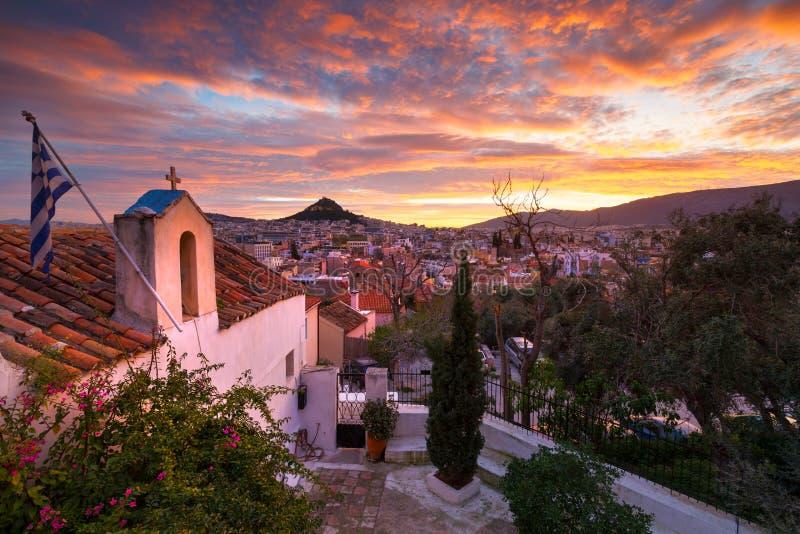 Colline de Lycabettus à Athènes photo stock