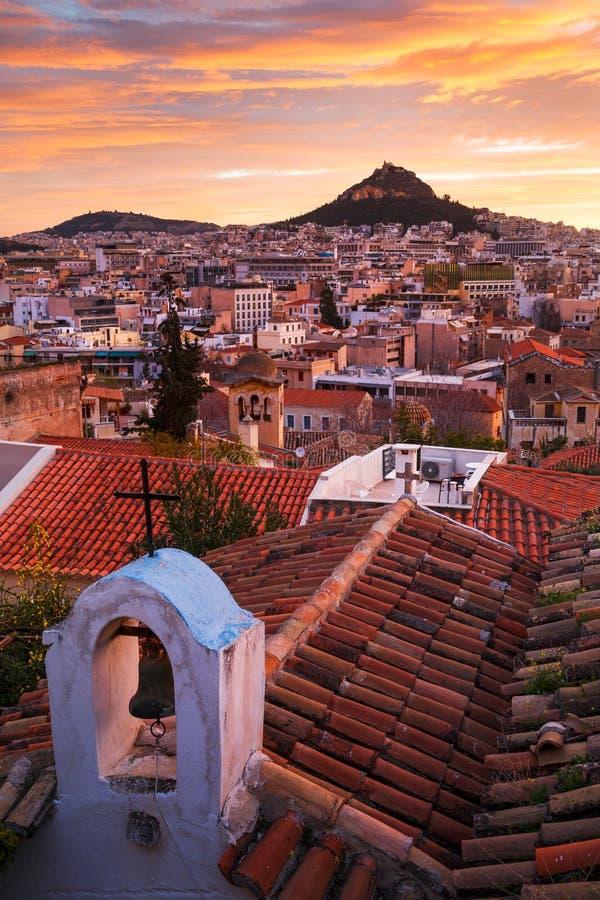 Colline de Lycabettus à Athènes photo libre de droits