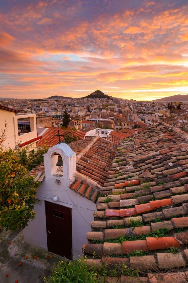 Colline de Lycabettus à Athènes photos libres de droits