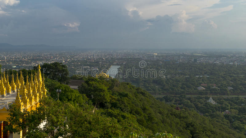 Colline de Mandalay images stock