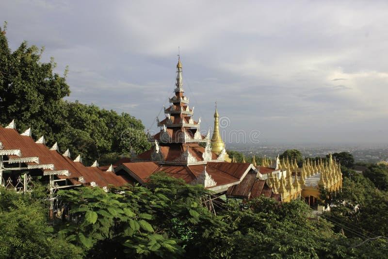 Colline de Mandalay photos libres de droits